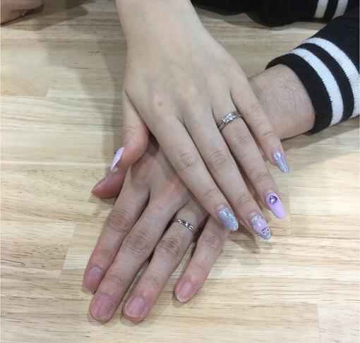 結婚指輪重ねづけ